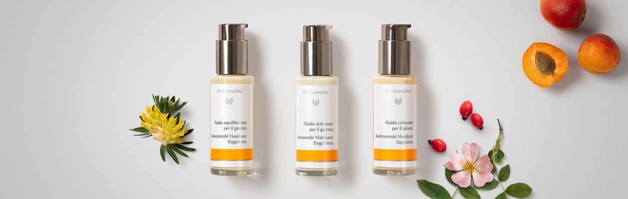 Nuovo: Tre fluidi Flower Power per la pelle.